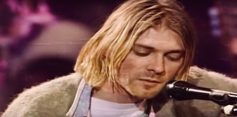 'It's the holy grail': Cigarette-burned Kurt Cobain 'Unplugged' cardigan heading to auction