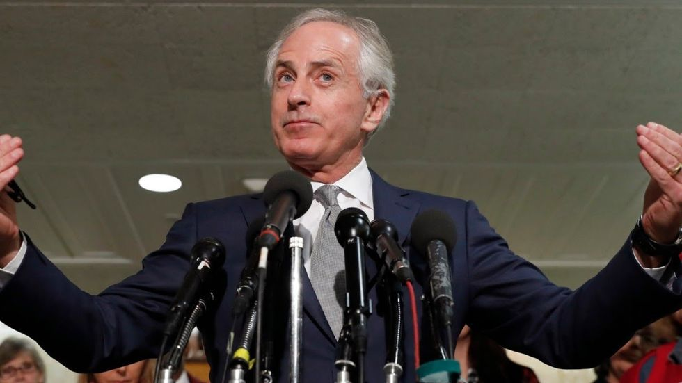 GOP's Bob Corker erupts on the Senate floor -- and mocks Republican who are afraid of Trump