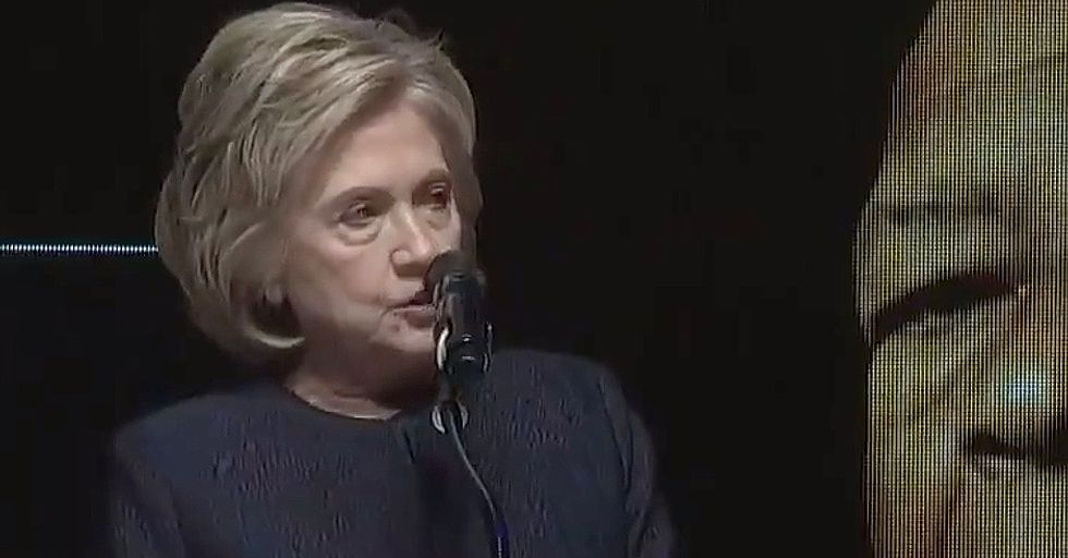 WATCH: Hillary Clinton takes a moment during Elijah Cummings' funeral to biblically blast Donald Trump