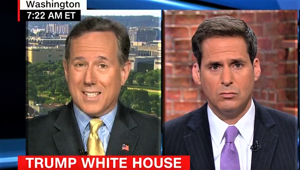 Rick Santorum admits Trump leads a 'cult of personality' — but that lets him 'work his magic'