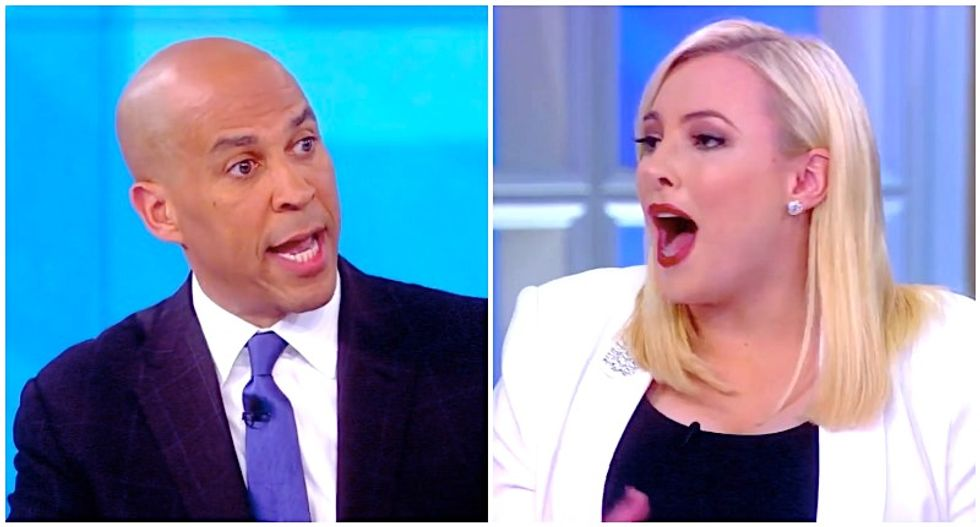 Meghan McCain explodes after Cory Booker gently scolds her for calling Beto O'Rourke 'crazy'