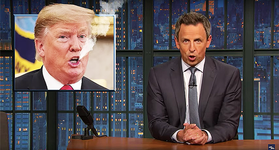 Seth Meyers: 'It turns out Donald Trump's mouth was the smoking gun this whole time'