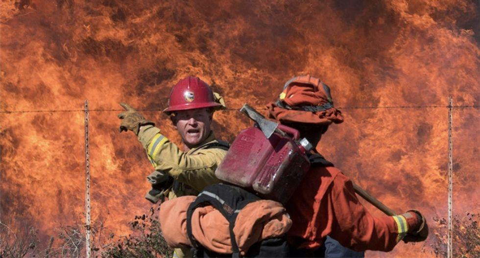 California fires: New blazes start as dangerous winds make things even worse