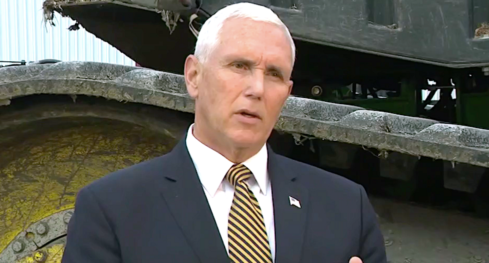 Pence remained silent as a 'wax museum guy' as Trump hurled insults at military leaders: report