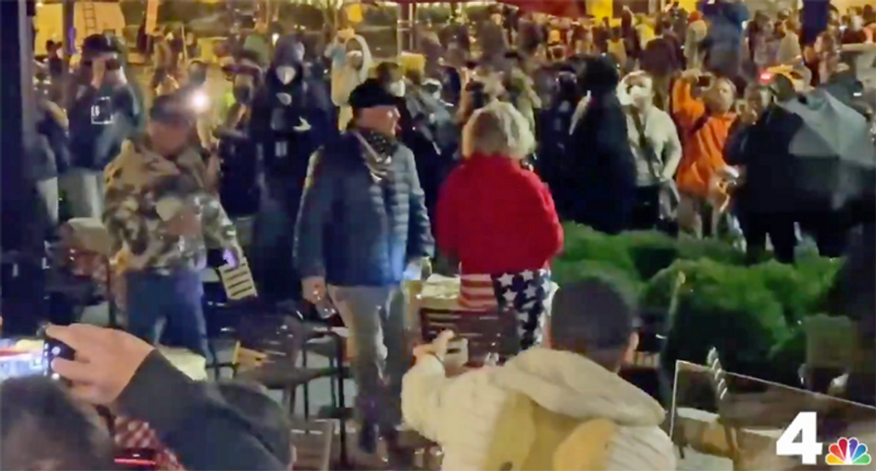 WATCH: Trump supporters descended on a city he lost by 87.4 points -- and it didn't end well