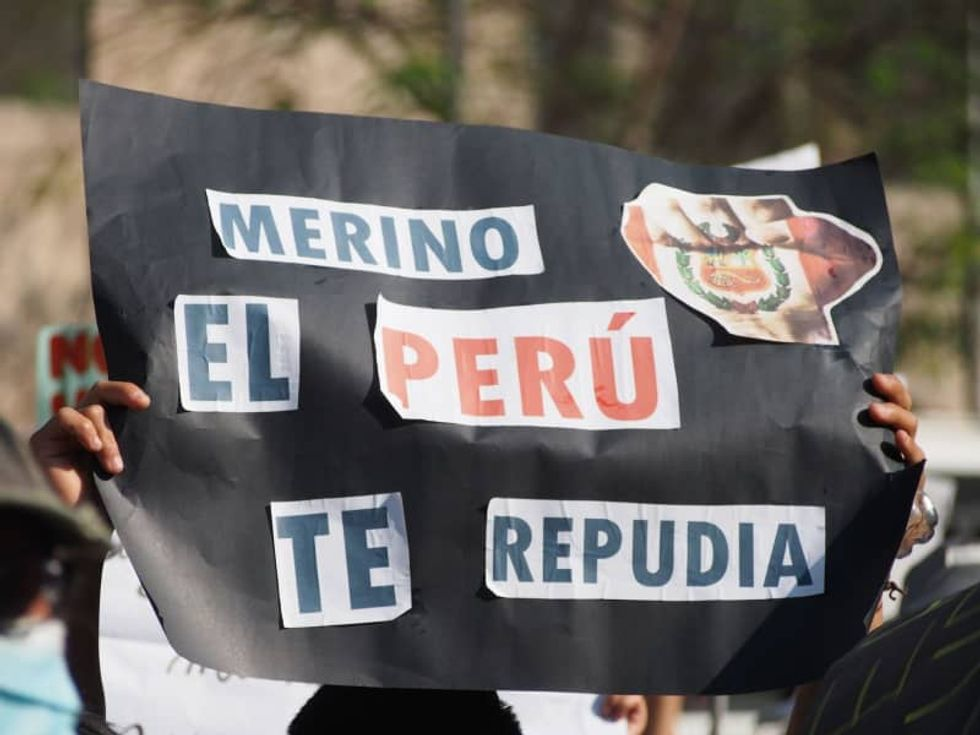 Two dead in Peru as protests against president's impeachment spiral
