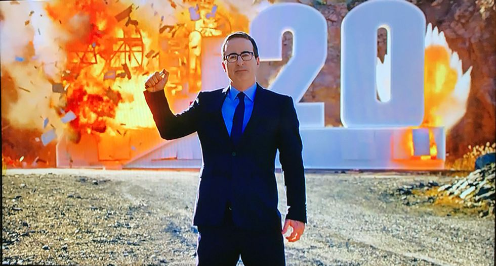 John Oliver shows 2020 exactly what he thinks of it