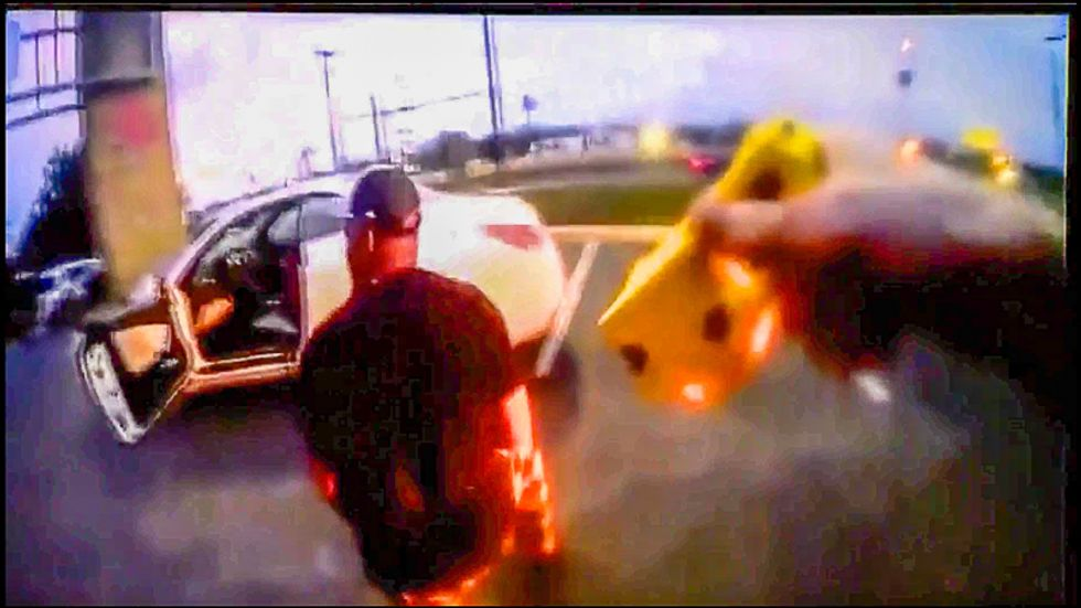WATCH: Texas cop tases Black man after pulling him over at gunpoint for 'dirty license plate'