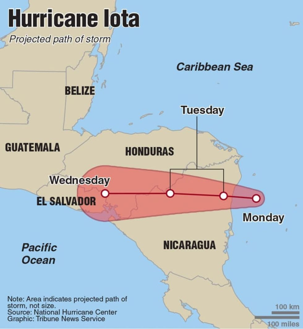 Hurricane Iota makes landfall in Nicaragua as a record-breaking Category 5 storm