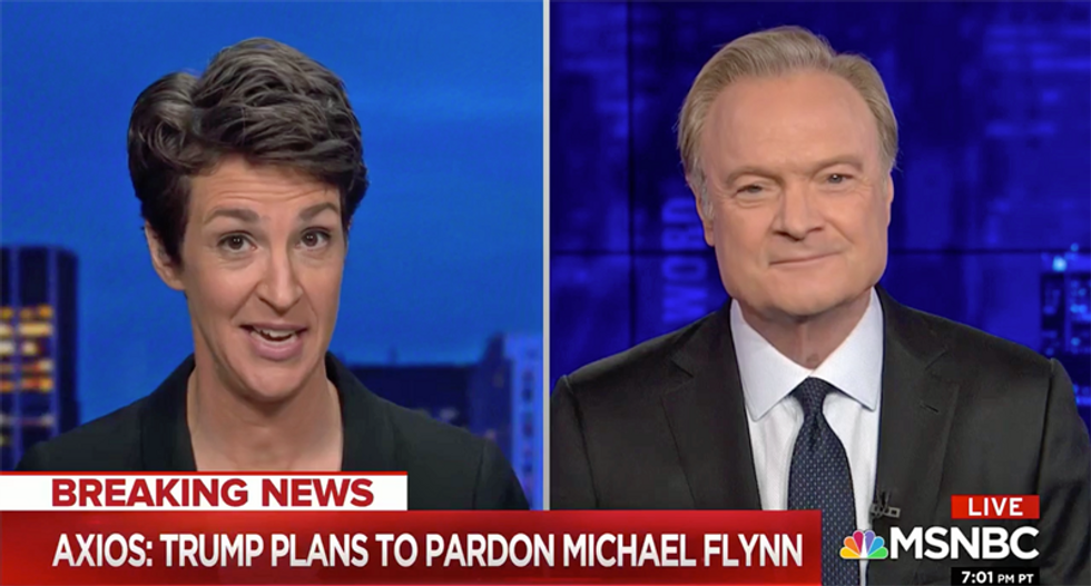 WATCH: Maddow offers fascinating theory as to why Trump may pardon Michael Flynn