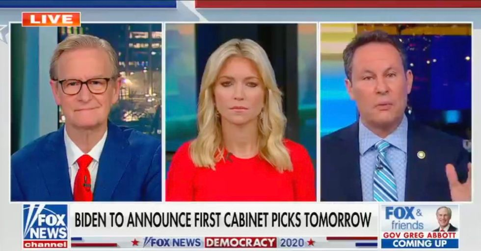 'Fox & Friends' host Brian Kilmeade goes apoplectic over Joe Biden's foreign policy – and then gets smacked down by co-host