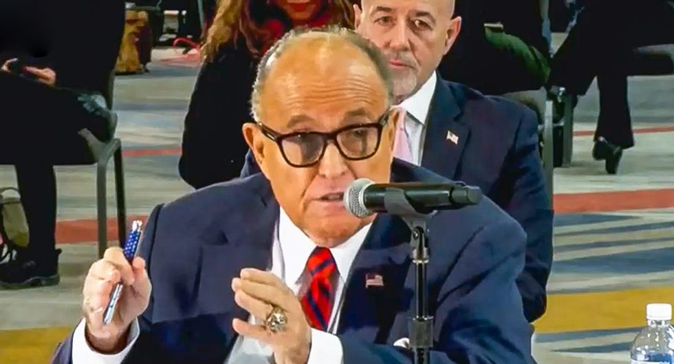 Rudy Giuliani tells GOP lawmakers to 'take over' election because of '5 million illegal aliens in Arizona'