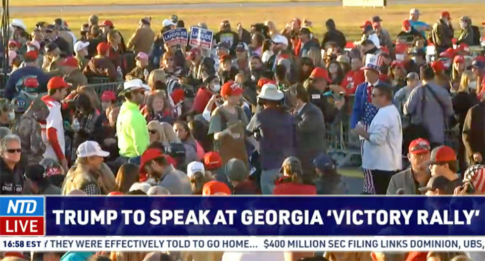 Trump holds large rally in Georgia -- one day after the Peach State set a new coronavirus record