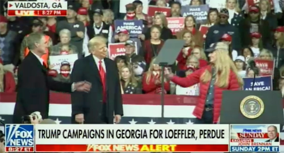 Trump only lets GOP senators speak for 2 minutes — combined — at his campaign rally for them in Georgia