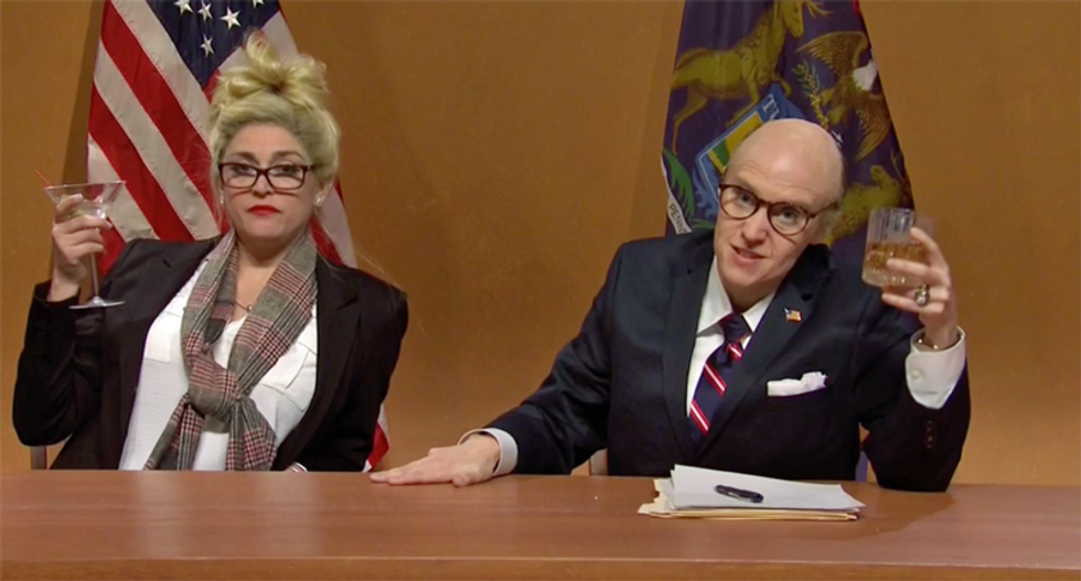 SNL rips Giuliani's conspiracy theories with skit that results in America's Mayor blacking out momentarily
