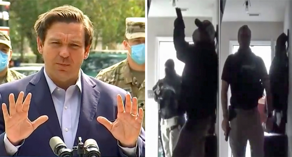 'DeSantis is out of control': Florida governor ripped for 'Gestapo tactics' after raid of COVID critic's home