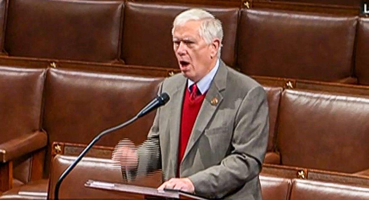GOP congressman blames 'ANTIFA fascists in backwards MAGA hats' after Trump supporters storm the Capitol