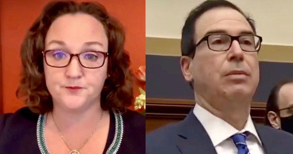 WATCH: Rep. Katie Porter brilliantly destroys Steve Mnuchin for 'play-acting' as a lawyer