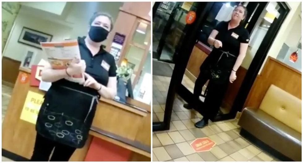 WATCH: Denny's waitress quits on the spot after frustration with anti-maskers boils over