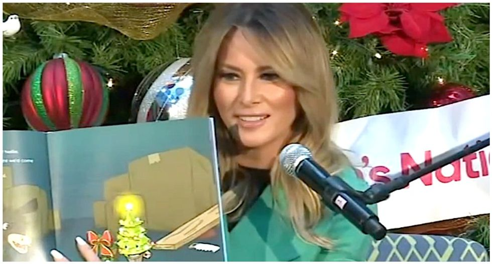 Melania Trump breaks children's hospital COVID policy by removing mask while reading to sick kids