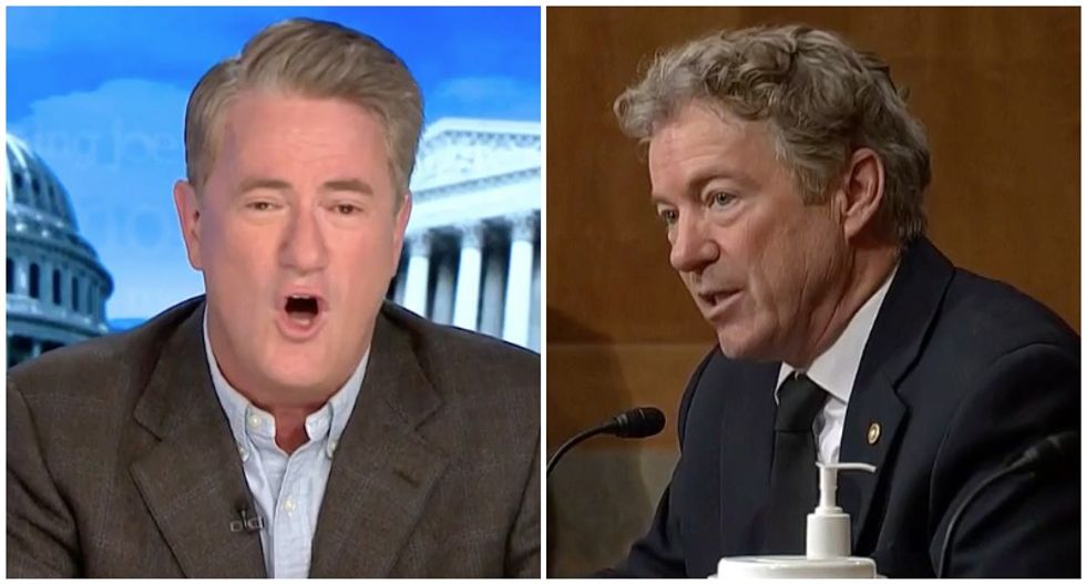 MSNBC's Morning Joe rips Rand Paul for telling election lies that Trump's own lawyers won't say in court