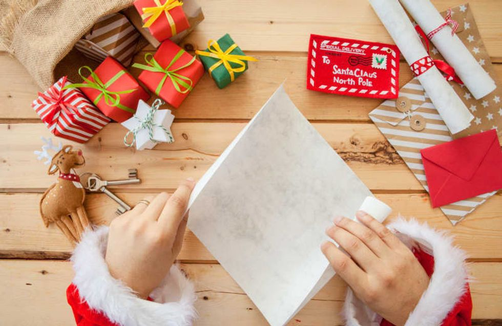 Answer actual letters to Santa, via a Postal Service program, complete with a North Pole address for the Jolly Old Elf