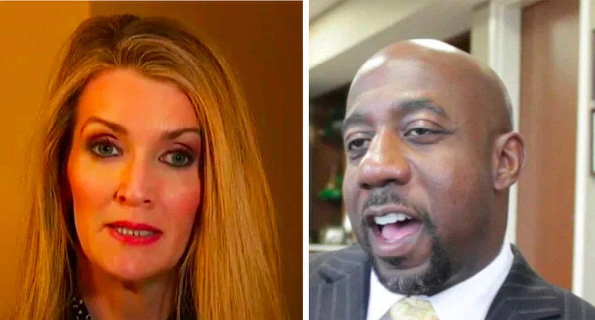 Kelly Loeffler's new Facebook ad darkens skin of Raphael Warnock -- her Black opponent