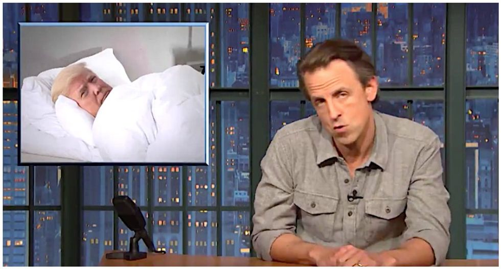 WATCH: Seth Meyers wonders what Trump's been doing since he's been so quiet since his election loss