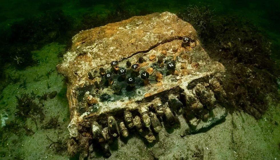 Divers find Nazis' Enigma code machine in Baltic Sea
