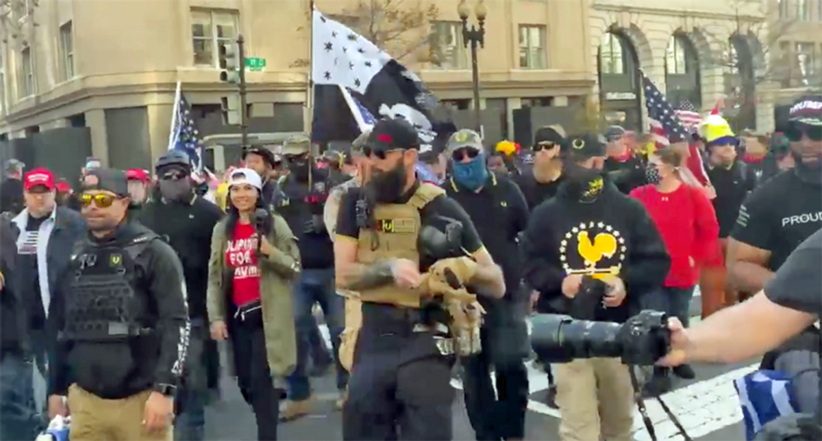 Proud Boys could lose their name in trademark dispute with one-time leader