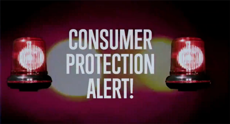 'CONSUMER PROTECTION ALERT' ad by Republicans for the Rule of Law warns Fox and Newsmax of new Trump scam