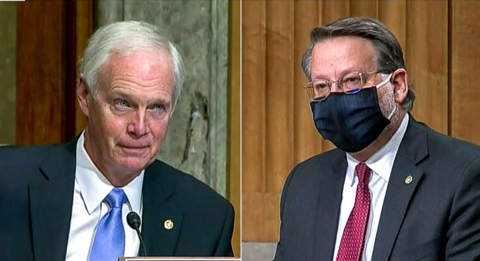 Dem blisters Ron Johnson for election stunt: 'This hearing gives a platform to conspiracy theories'