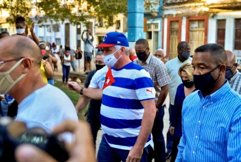 Cuban president says artist collective's protest was US plot