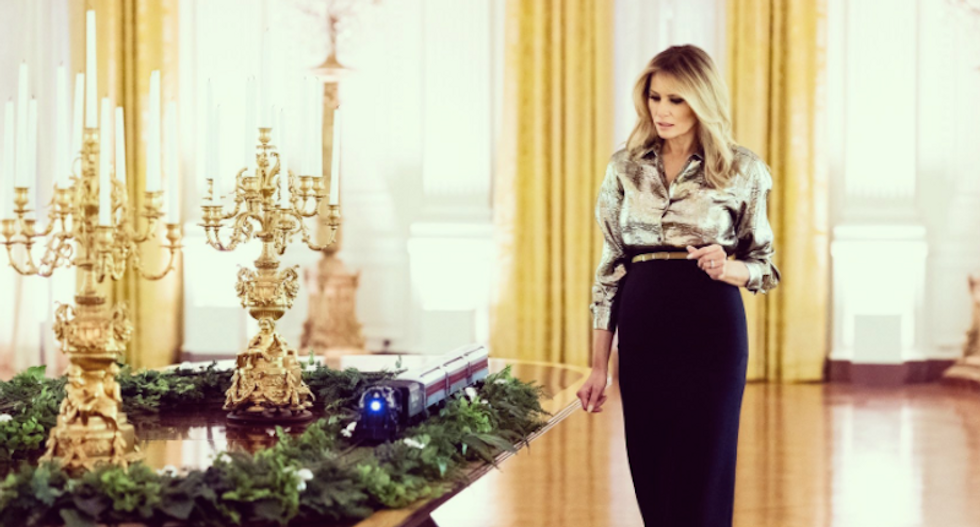 Melania Trump brutally reminded of her profane complaints about Christmas after unveiling this year's decorations