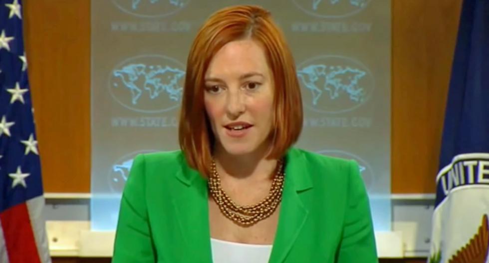 'Puppet of the propaganda machine': Biden press secretary hits GOP for repeating Russia 'misinformation'