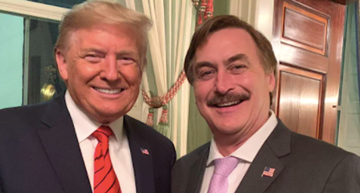 My Pillow guy Mike Lindell briefed Trump -- about what he was missing on Twitter: report