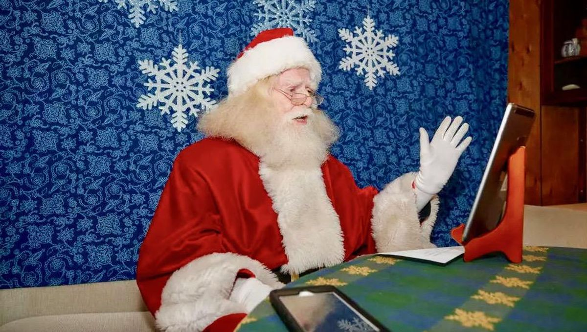 Like so much else, visits with Santa go virtual due to Covid