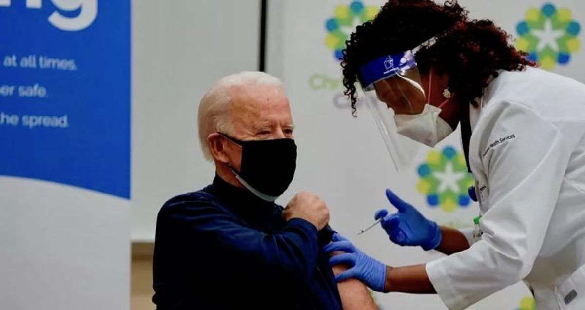 Joe Biden receives Covid-19 vaccine live on TV