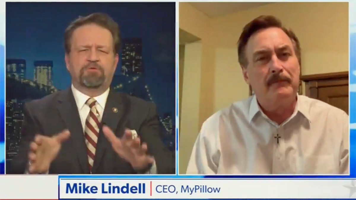 WATCH: 'My Pillow Guy' interrupted on Newsmax for pushing conspiracy theories