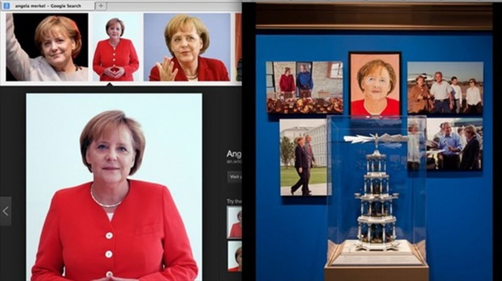 Bush's Merkel painting