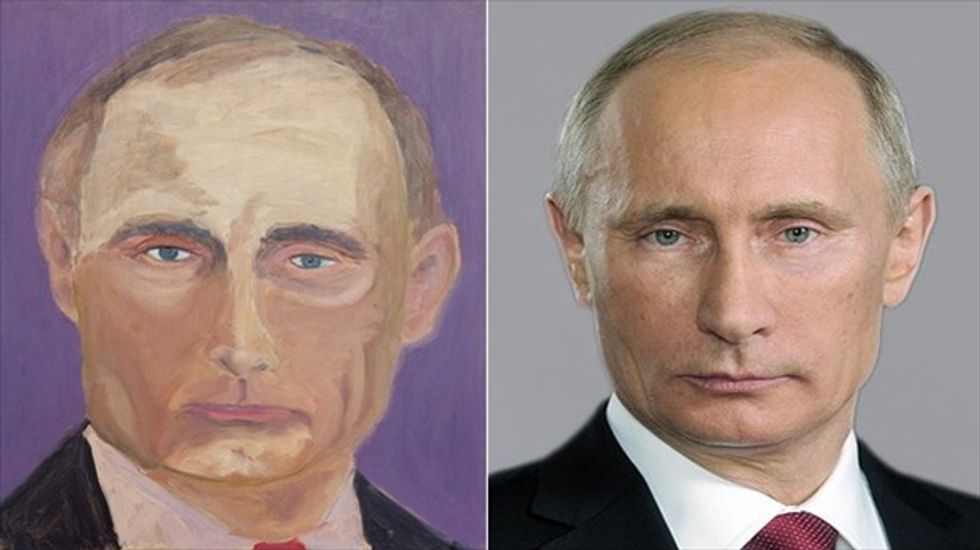 Bush's Putin painting