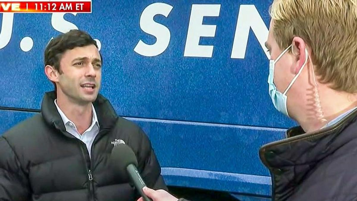 Jon Ossoff turns tables on Fox News reporter: 'Kelly Loeffler has been campaigning with a klansman'