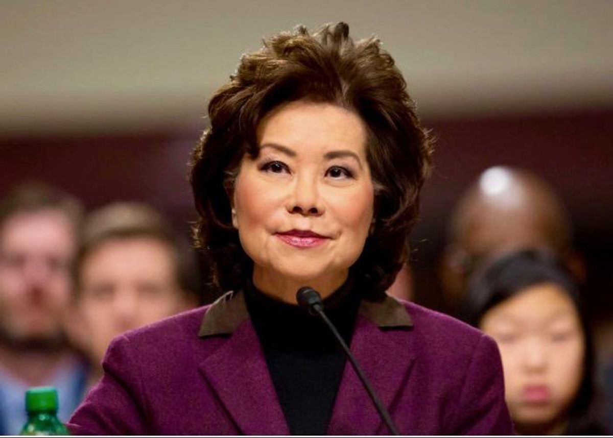 Federal watchdog asked DOJ to open 'criminal investigation' into ex-Transit Sec. Elaine Chao: report