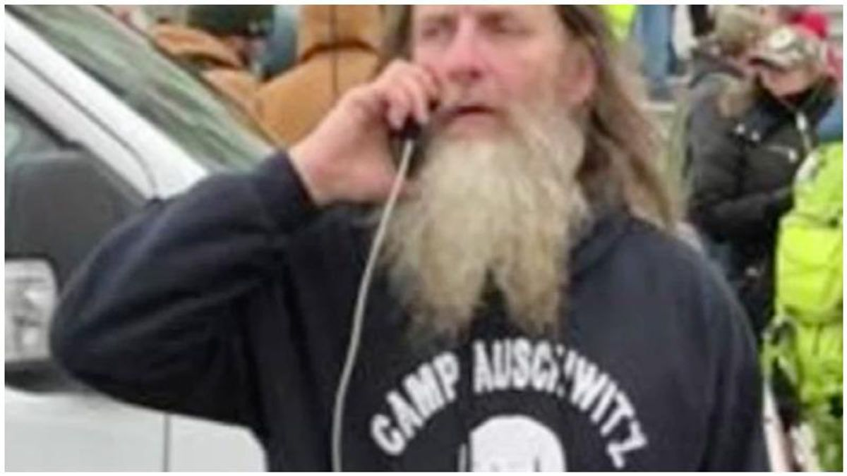 Trump rioter in 'Camp Auschwitz' shirt arrested in Virginia after being identified by neighbors