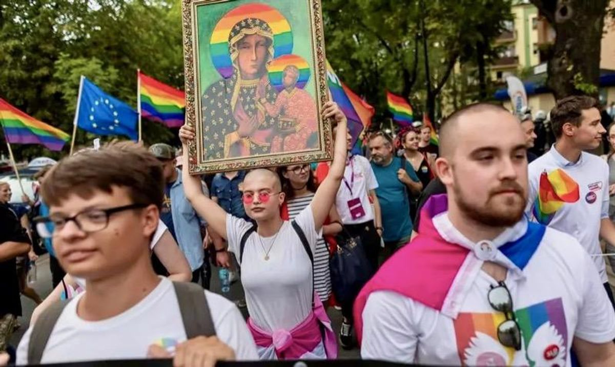 Poles on trial for 'desecrating' Virgin Mary with rainbow halo