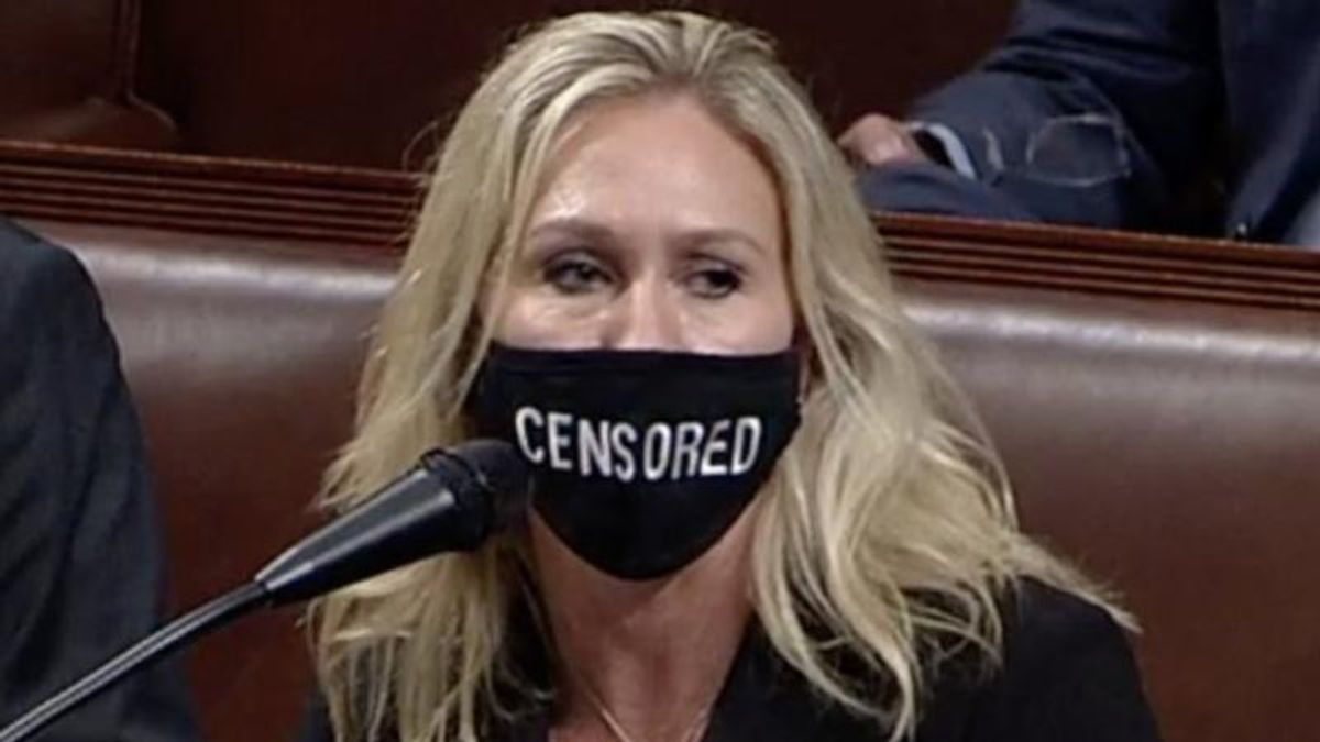'Idiot' QAnon congresswoman ridiculed for House floor stunt: 'Irony is officially dead'