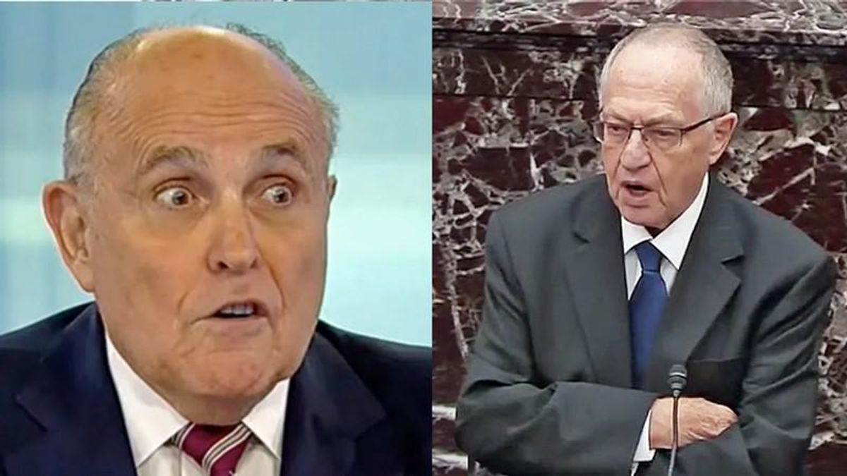 Trump wants Rudy Giuliani and Alan Dershowitz to defend him in Senate impeachment trial: report