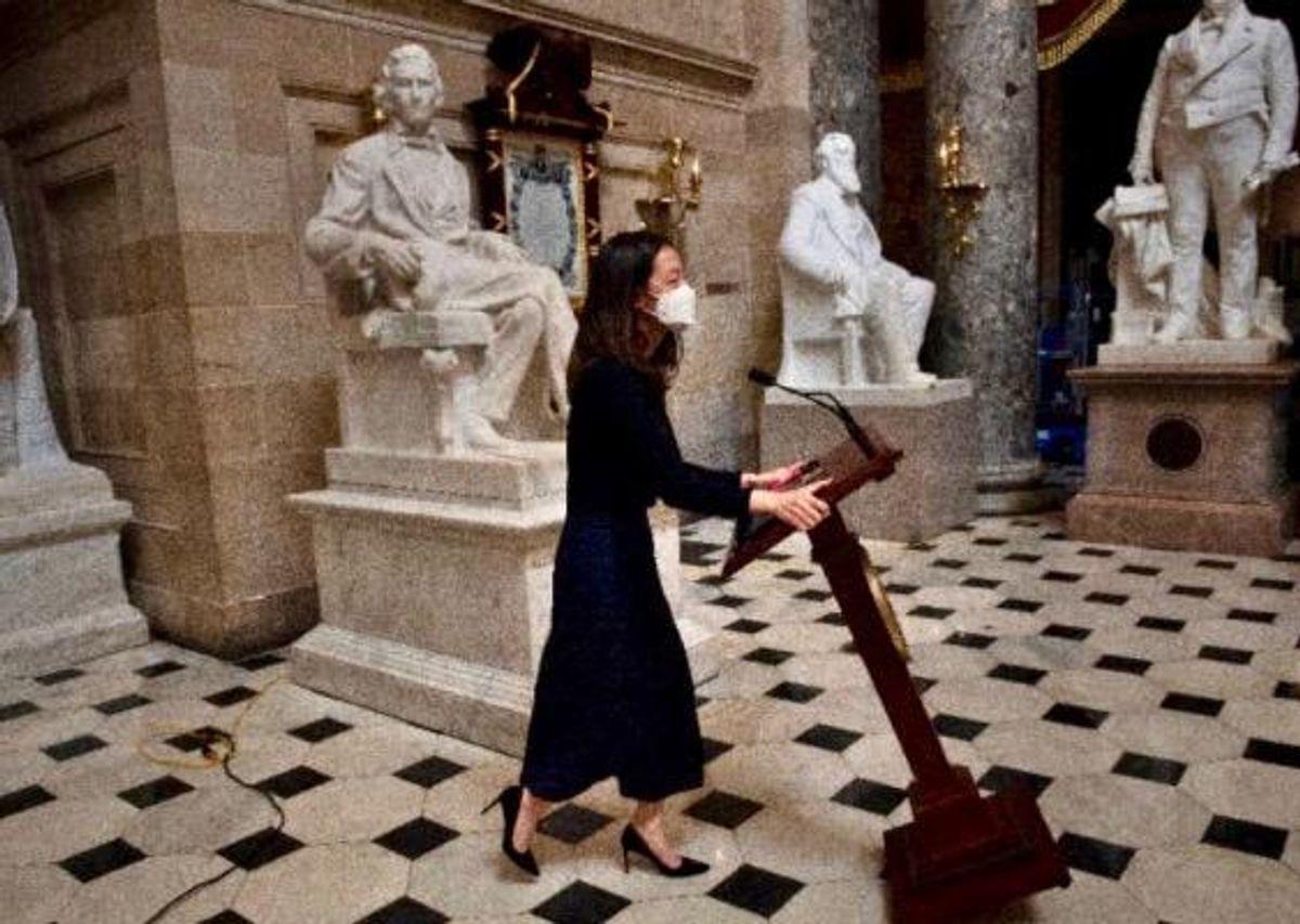 Nancy Pelosi's stolen lectern back at the Capitol