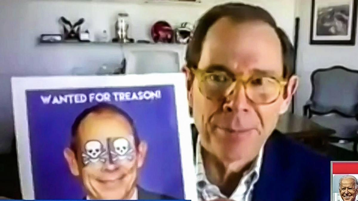 WATCH: Republican threatened with 'WANTED' poster — even though he voted no on impeachment