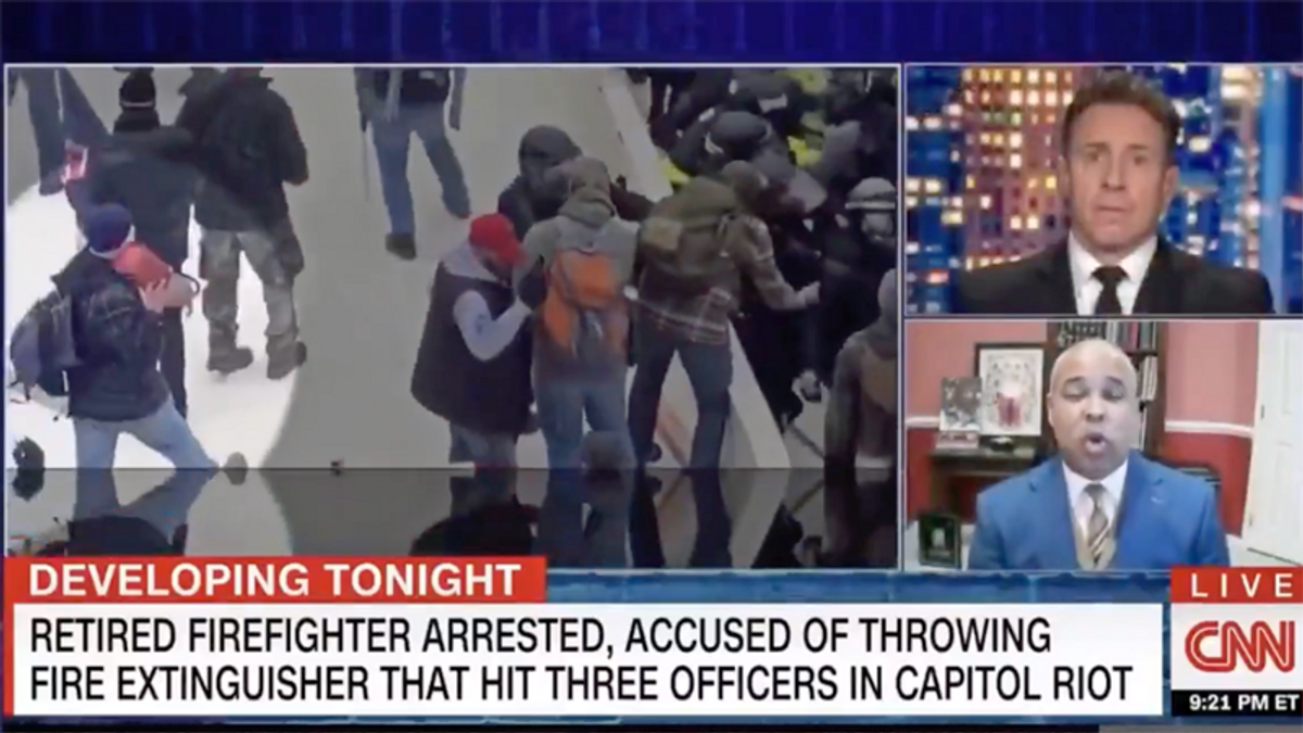 Insurrectionist's lawyer tried out defense in Chris Cuomo interview -- and it didn't end well
